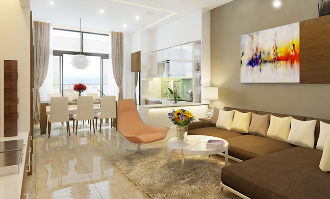 Modern apartment with 3 bedrooms and full furniture in Trang An Complex