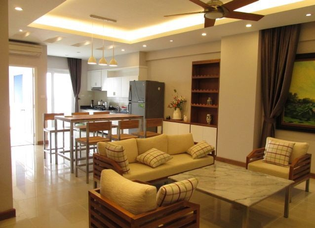 Furnished 3 bedroom apartment in Vuon Dao building, 689 alley, Lac Long Quan street
