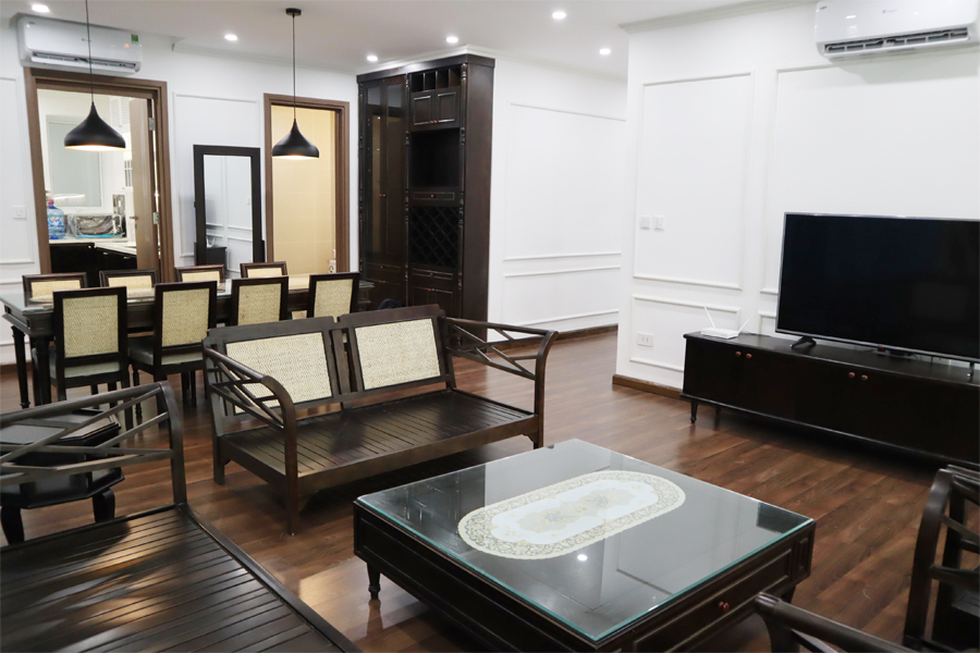 154 sqm apartment with 3 bedrooms on high floor in The Link L3 tower Ciputra Hanoi 1