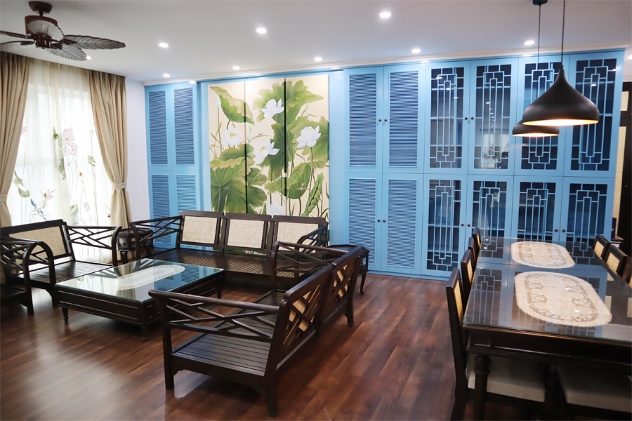 154 sqm apartment with 3 bedrooms on high floor in The Link L3 tower Ciputra Hanoi 2