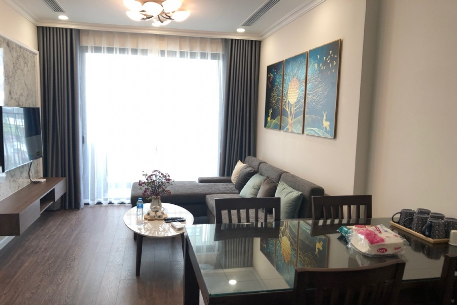 2 bedroom apartment for rent view Nhat Tan bridge in R2 Sunshine Riverside