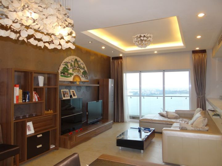2 bedroom apartment on high level with Westlake view for rent in Golden Westlake Hanoi