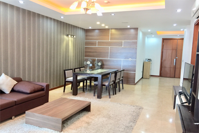 3 bedroom apartment on high floor for rent in L1 tower The Link Ciputra Hanoi