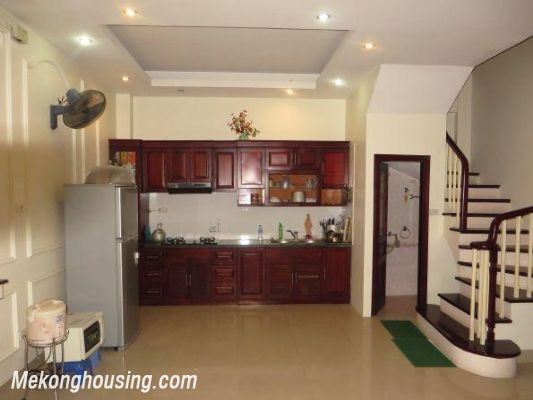 4 floors house with modern furniture for rent in Doi Can street, Ba Dinh district, Hanoi 2