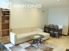 A modern 114 m2 apartment with 3 bedrooms for rent on high floor in L tower, Ciputra Hanoi
