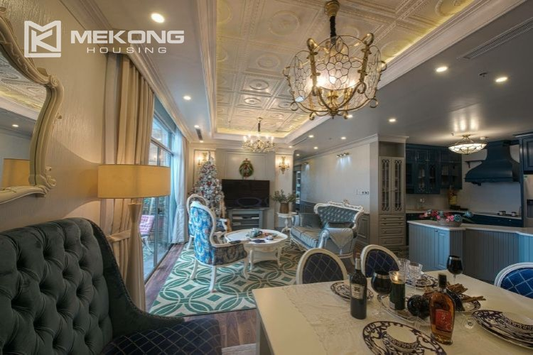 A neo-classic style apartment with 3 bedrooms for rent in Royal City Hanoi 1