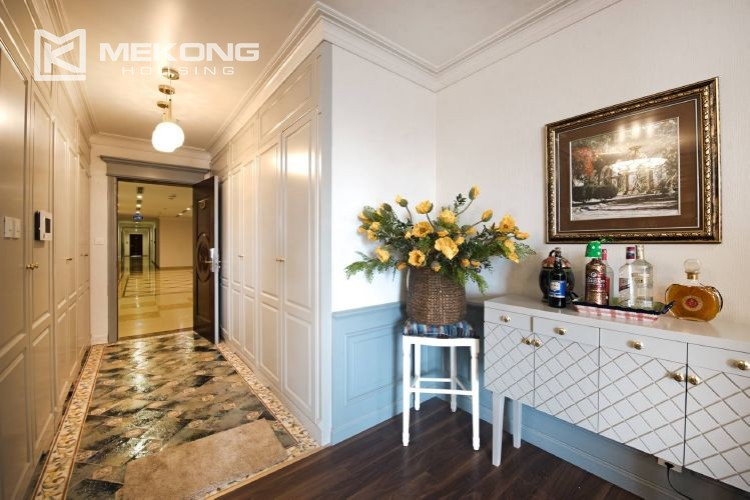 A neo-classic style apartment with 3 bedrooms for rent in Royal City Hanoi 2