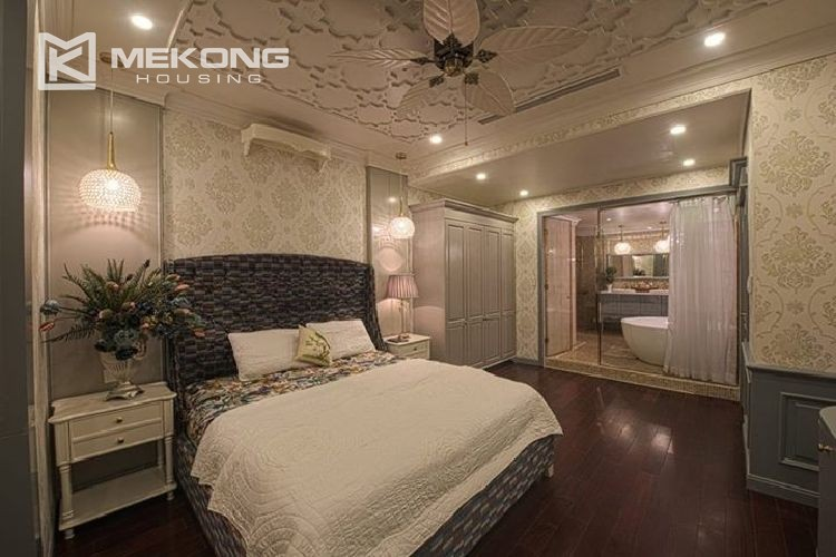 A neo-classic style apartment with 3 bedrooms for rent in Royal City Hanoi 7