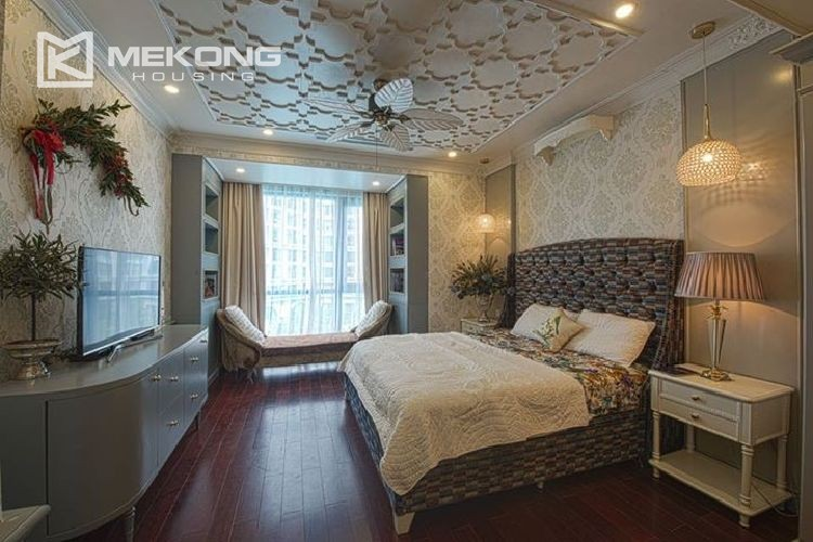 A neo-classic style apartment with 3 bedrooms for rent in Royal City Hanoi 8