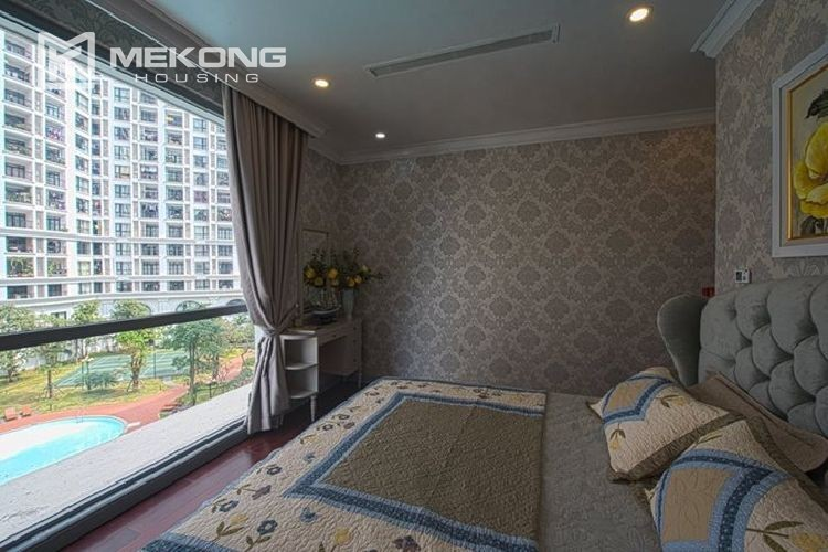 A neo-classic style apartment with 3 bedrooms for rent in Royal City Hanoi 17