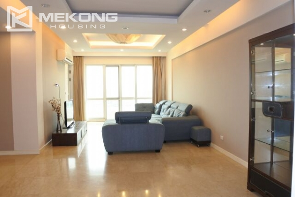 A well designed 182 m2 apartment with 3 bedrooms on high floor in P tower, Ciputra Hanoi 1
