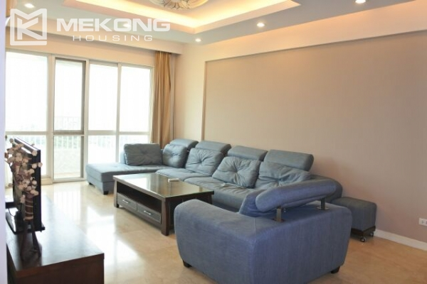 A well designed 182 m2 apartment with 3 bedrooms on high floor in P tower, Ciputra Hanoi 2
