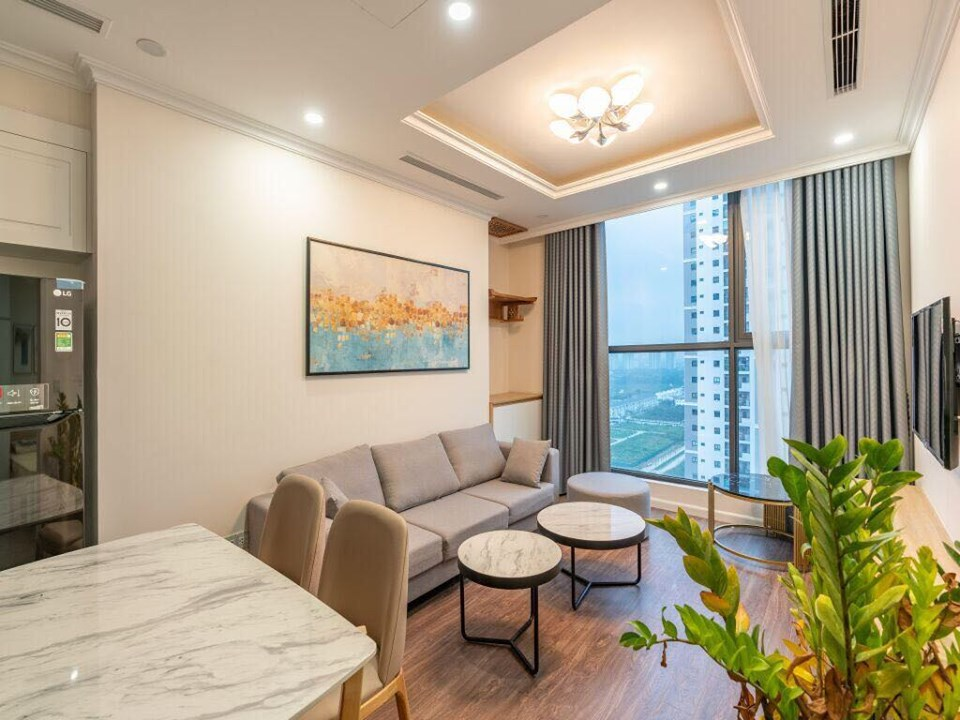 Apartment for rent living area of 66 sqm, luxurious design, good price in R1 block, Sunshine Riverside Hanoi