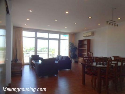 Beautiful apartment with Truc Bach lake view for rent in Tran Vu, Ba Dinh, Hanoi 2
