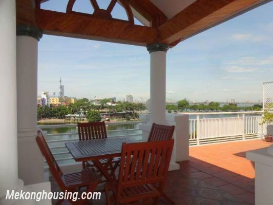 Beautiful apartment with Truc Bach lake view for rent in Tran Vu, Ba Dinh, Hanoi 7