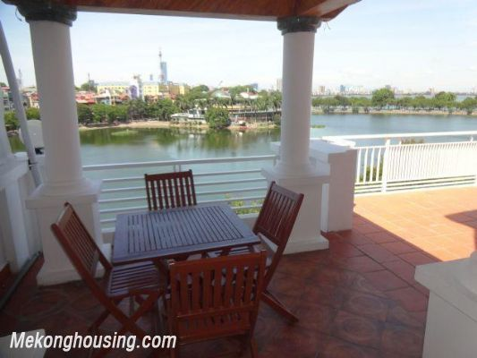 Beautiful apartment with Truc Bach lake view for rent in Tran Vu, Ba Dinh, Hanoi 8