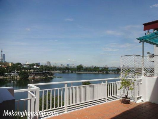 Beautiful apartment with Truc Bach lake view for rent in Tran Vu, Ba Dinh, Hanoi 9