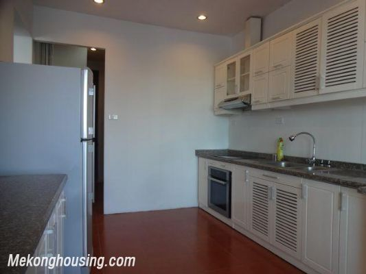 Beautiful apartment with Truc Bach lake view for rent in Tran Vu, Ba Dinh, Hanoi 10