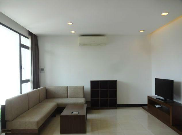 Beautiful serviced apartment with 2 bedrooms for rent in Xom Chua, Tay Ho, Hanoi