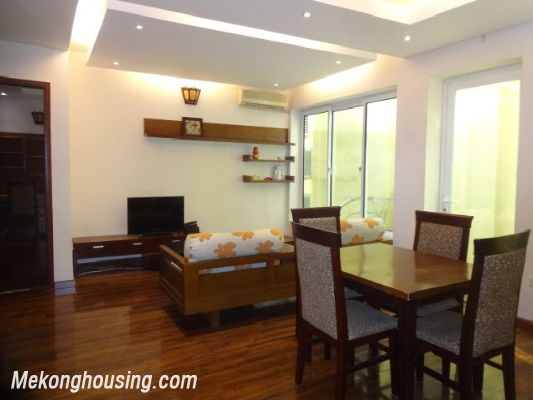 Bight serviced apartment with 2 bedrooms for rent in Lac Long Quan street, Tay Ho district, Hanoi 1