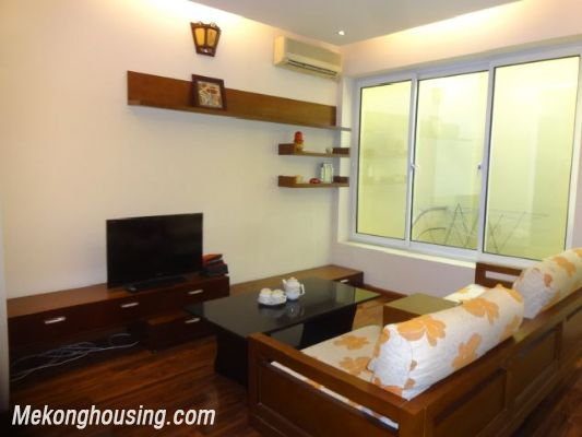 Bight serviced apartment with 2 bedrooms for rent in Lac Long Quan street, Tay Ho district, Hanoi 2