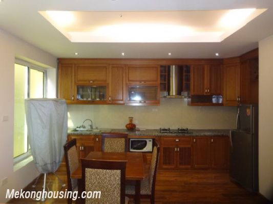 Bight serviced apartment with 2 bedrooms for rent in Lac Long Quan street, Tay Ho district, Hanoi 3