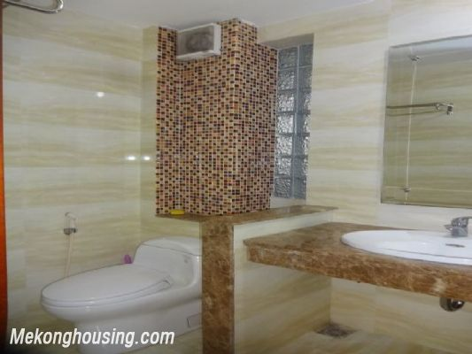 Bight serviced apartment with 2 bedrooms for rent in Lac Long Quan street, Tay Ho district, Hanoi 11