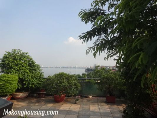 Bight serviced apartment with 2 bedrooms for rent in Lac Long Quan street, Tay Ho district, Hanoi 13
