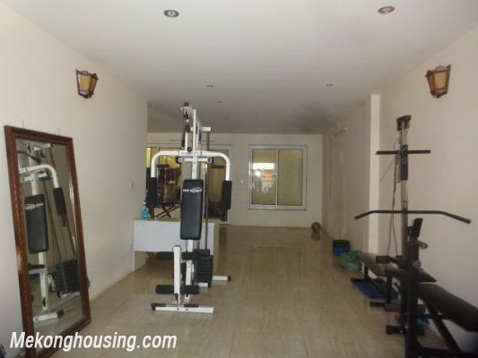 Bight serviced apartment with 2 bedrooms for rent in Lac Long Quan street, Tay Ho district, Hanoi 14