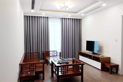 Brand new 2 bedroom apartment on high floor with modern furniture in Sunshine Riverside Tay Ho, Hanoi