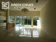 Brand-new villa with outdoor swimming pool for rent in Q block, Ciputra Hanoi