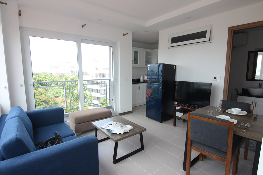 Bright 1 bedroom apartment  for rent on Dang Thai Mai street, Tay Ho district 1