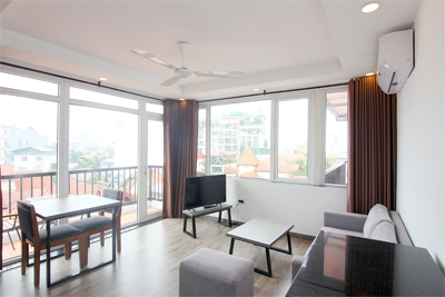Bright 1 bedroom apartment  for rent on To Ngoc Van street, Tay Ho district