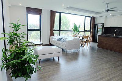 Bright 2 BRs apartment with awesome greenery view on Dang Thai Mai street, Tay Ho