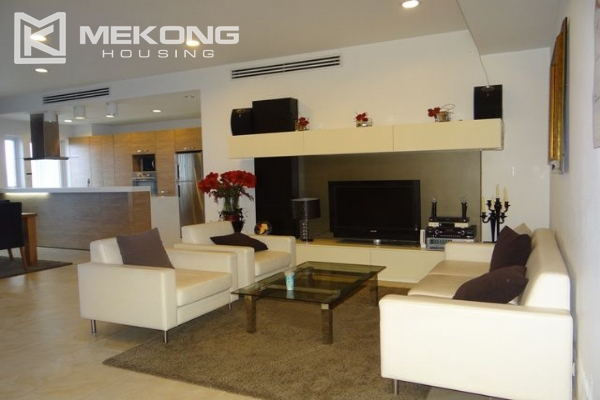 Bright apartment with 2 bedrooms and modern furniture in Golden Westlake Hanoi 1