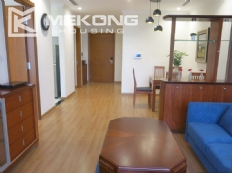 Bright apartment with 2 bedrooms for rent in Vinhomes Nguyen Chi Thanh, Hanoi