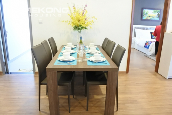 Bright apartment with 3 bedrooms and full furniture in Times City Hanoi 3