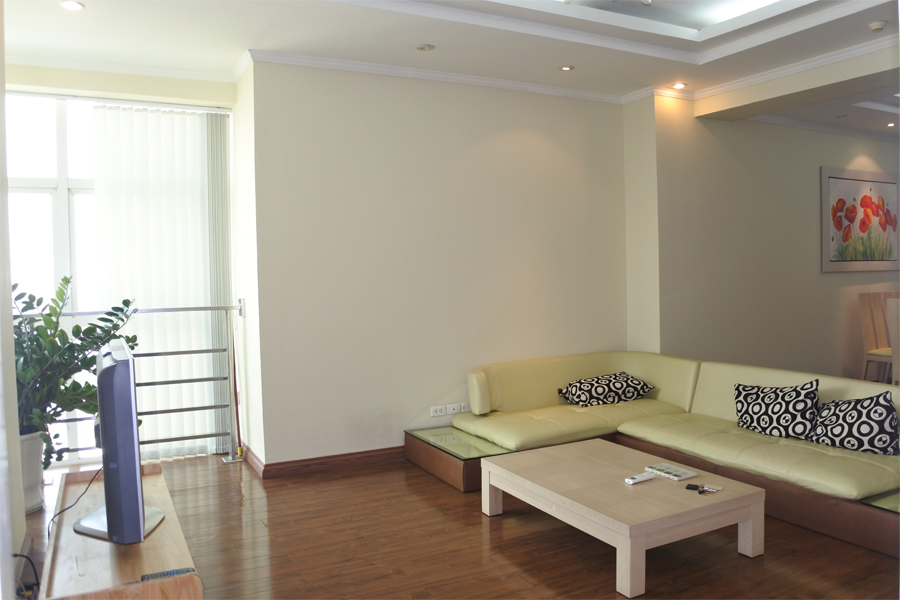 Bright apartment with 3 bedrooms for rent in E5 tower, Ciputra Hanoi 3