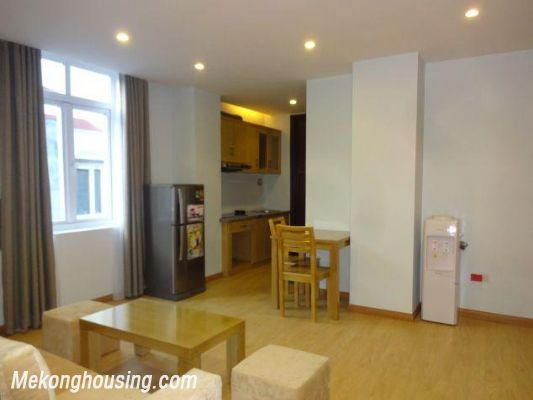 Bright serviced apartment with 1 bedroom for rent in Thuy Khue street, Tay Ho district, Hanoi 2