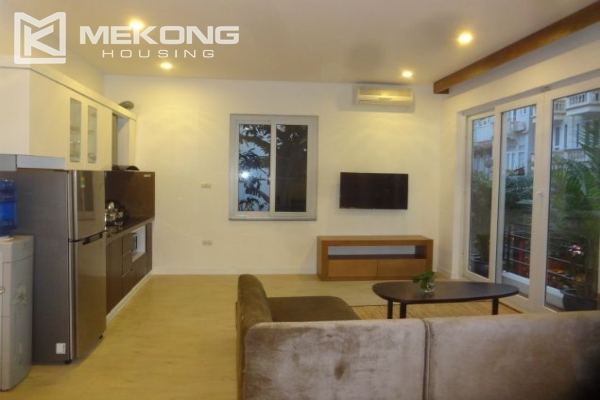 Bright serviced apartment with 1 bedroom for rent in To Ngoc Van street 1
