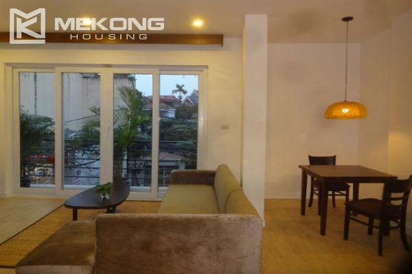 Bright serviced apartment with 1 bedroom for rent in To Ngoc Van street 2