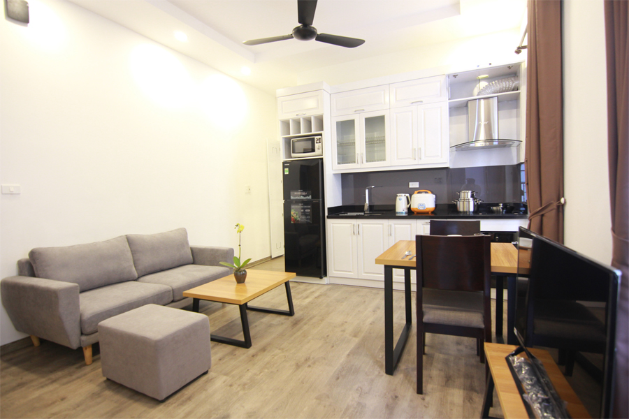 Charming serviced apartment with 1 bedroom for rent on To Ngoc Van street, Tay Ho district 2