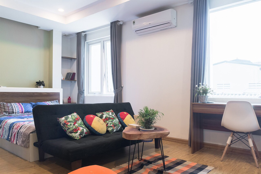 Charming Studiou apartment for rent alley 545 Xuan Dinh street, Tay Ho district 2
