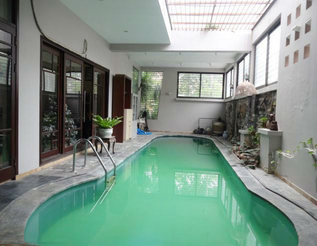 Charming villa with private swimming pool for rent in Nghi Tam, Tay Ho, Hanoi