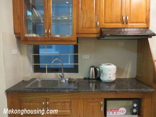 Cheap serviced apartment with 2 bedrooms for rent in Ngoc Khanh street, Ba Dinh, Hanoi 4