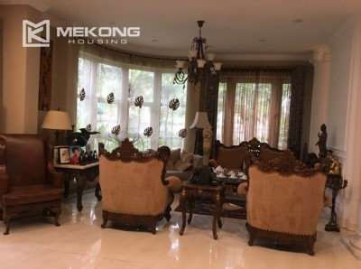Corner furnished villa in T7 Block Ciputra Hanoi for rent, green garden, bright