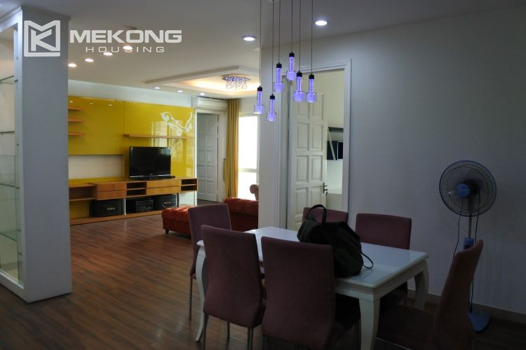 Cozily furnished apartment with 3 bedrooms on middle level in E4 Ciputra Hanoi 3