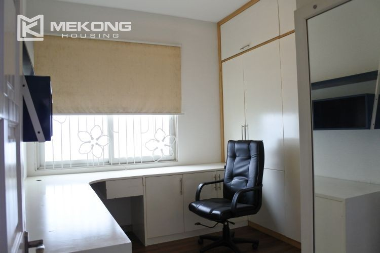 Cozily furnished apartment with 3 bedrooms on middle level in E4 Ciputra Hanoi 5