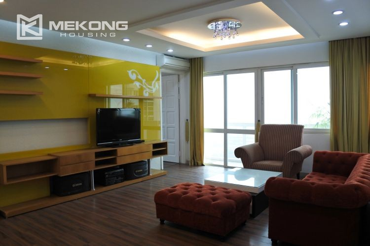 Cozily furnished apartment with 3 bedrooms on middle level in E4 Ciputra Hanoi