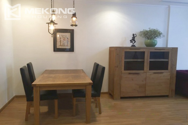 Cozy furnished apartment with 2 bedrooms on middle level in Vinhomes Nguyen Chi Thanh 2